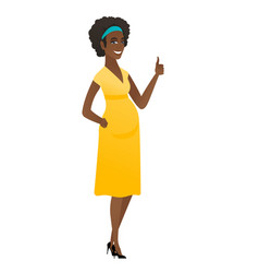 african pregnant woman giving thumb up vector image