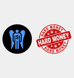 angel investor icon and distress hard money vector image