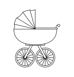 baby carriage icon vector image