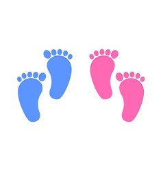 Baby foot print isolated on white background vector