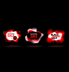 black friday sale discount banner with organic vector image