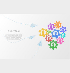 Business concept of teamwork with people icons on vector