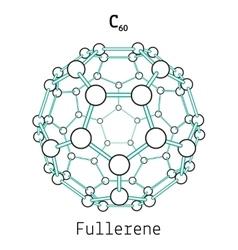 C60 fullerene molecule vector image