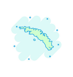 cartoon south georgia map icon in comic style vector image