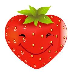 Cartoon strawberry vector