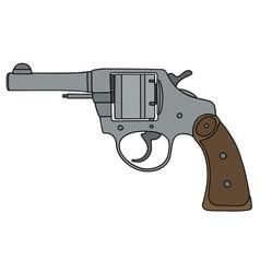 classic light steel revolver vector image