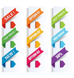 colorful arrows and labels vector image