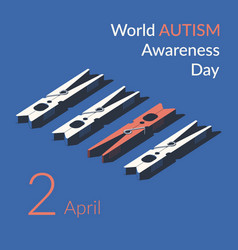 creative concept for world autism vector image