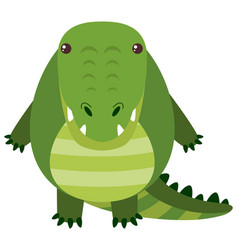 cute crocodile with happy face vector image