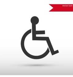 Disabled icon Flat design style vector