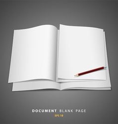 Document blank white page and pencil vector