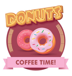 Donuts or label for menu vector
