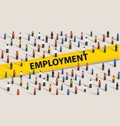 employment concept crowd of people individuality vector image