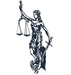 Femida lady justice vector image