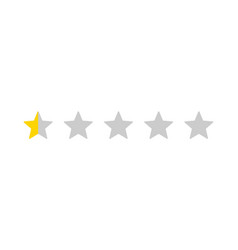 five stars customer product rating review vector image