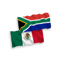 flags mexico and republic south africa on a vector image