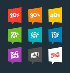 Flat Discount Labels vector image