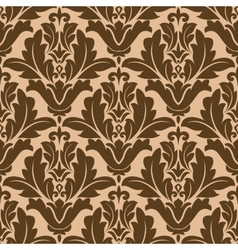 Floral damask-style repeat pattern vector