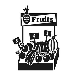 fruit kiosk icon simple style vector image