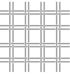 Geometric pattern black and white lines weave vector