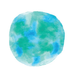 globe painted with watercolor vector image