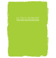Green high-tech background element for a4 formats vector