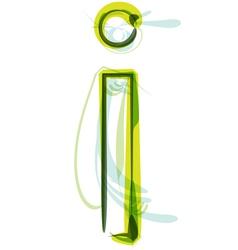 Green letter I vector image