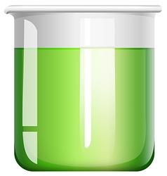 Green liquid in beaker vector image