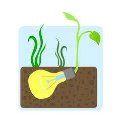 growing innovative idea concept vector image