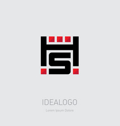 H and s logo hs - monogram or logotype design vector