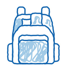 Human shop backpack doodle icon hand drawn vector