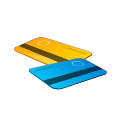 Icon credit card vector