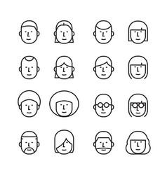 icon human head vector image