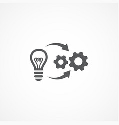 implementation icon vector image
