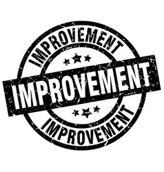 Improvement round grunge black stamp vector