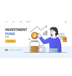 Investment fund business concept vector