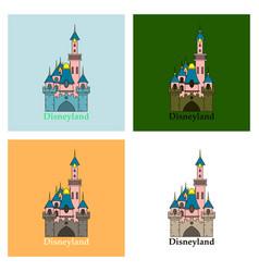 Logo or label disneyland line style logotype easy vector