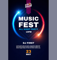 Music fest poster template show exhibition vector