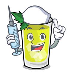 Nurse mint julep character cartoon vector