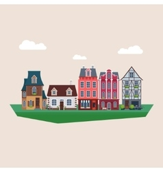 Old Vintage Houses vector