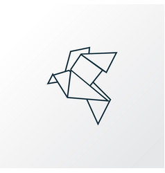 origami icon line symbol premium quality isolated vector image