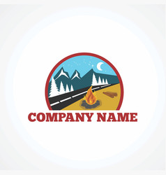 outdoor camp logo icon element and template vector image