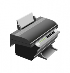 printer vector image