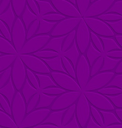 Purple floral ornament embossed seamless vector