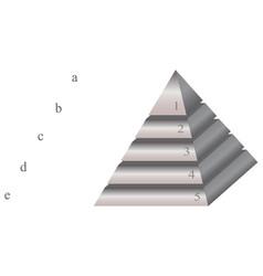Pyramid blank vector