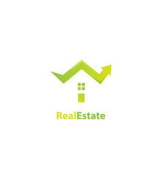 real estate arrow logo design vector image