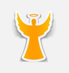 Realistic design element angel vector