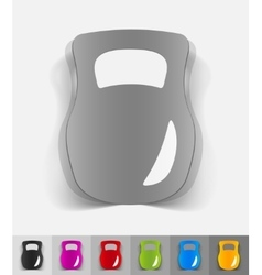 realistic design element weight vector image