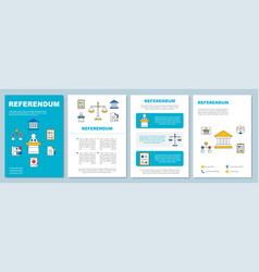Referendum brochure template layout popular vote vector