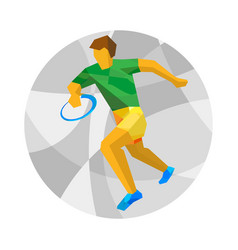 rugby player with abstract patterns vector image